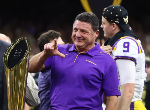 LSU's Orgeron 'beaming' after finally proving doubters wrong