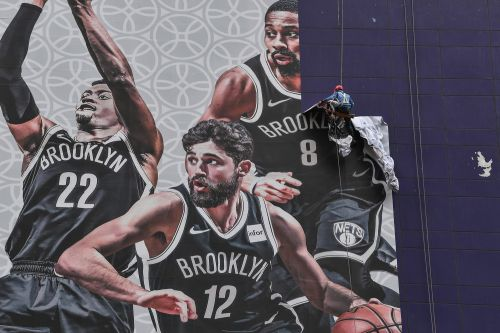 NBA banners for Nets-Lakers being taken down in Shanghai amid tensions