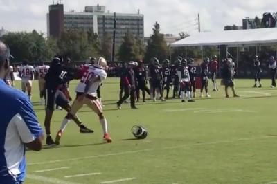 Watch: Texans' DeAndre Hopkins trades punches with 49ers CB Jimmie Ward