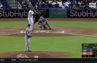WATCH: Justin Bour hits a 2-run homer to help Marlins get the win