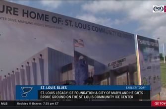 Blues break ground on community ice center