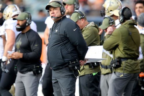 Report: Saints coach Sean Payton smashed fire alarm in locker room at Paul Brown Stadium
