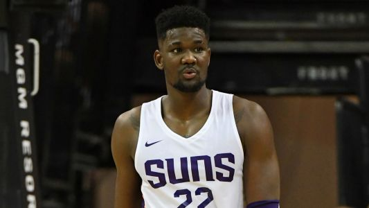 Joel Embiid warns Suns' Deandre Ayton: 'He's about to get his a- kicked