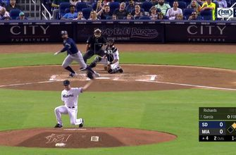 HIGHLIGHTS: Chris Paddack comes up just short of history in Padres 3-2 win over Marlins