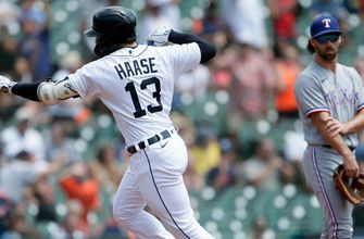 Haase, Tigers win 7th straight, finish sweep of Rangers