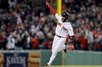 Eduardo Nunez's 3-run blast gives the Red Sox breathing room in Game 1