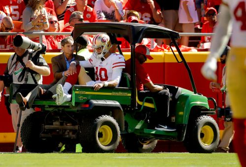 San Francisco 49ers' Jimmy Garoppolo suffers season-ending torn ACL