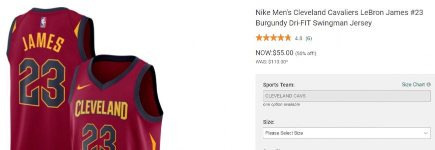 LeBron jerseys being sold at half price ahead of free agency