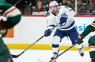 Lightning edged by Wild in overtime in 1st road game of the season