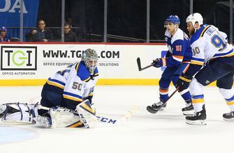 Blues pick up a point but drop game 2-1 in OT to Islanders