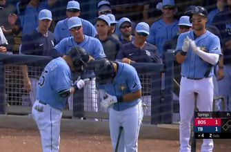 WATCH: Newcomer Yoshi Tsutsugo hits Rays 1st HR of spring