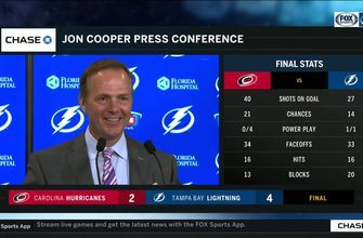 Jon Cooper praises Tyler Johnson's spectacular night