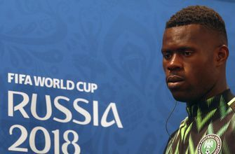 Nigeria's young goalkeeper shows no sign of stage fright