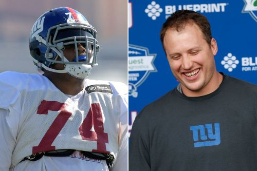 Ereck Flowers and Giants get a dose of their new O-line leader