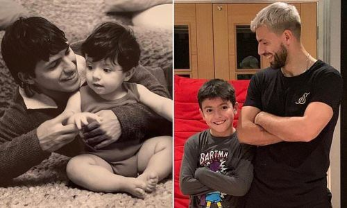 Aguero posts ode to his son Ben as he turns 10 with throwback pic