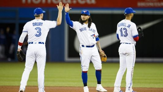 Blue Jays' Grichuk delivers dramatic win as pitching search continues