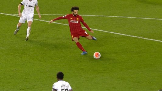 Salah equalizes for Liverpool v. West Ham