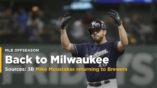 Sources: Mike Moustakas agrees to terms with Brewers on one-year deal