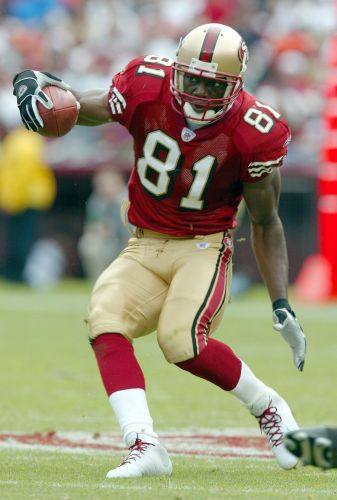 Terrell Owens theatrically announces football comeback. to a Madden video game cover