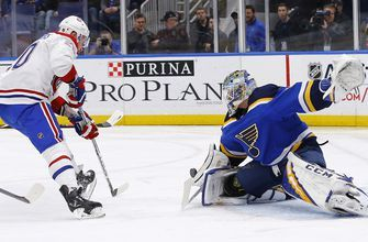 Binnington shines again in Blues' 4-1 win over Canadiens