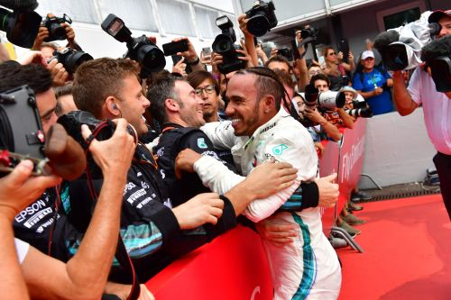 Lewis Hamilton wins German GP as rival Sebastian Vettel crashes late