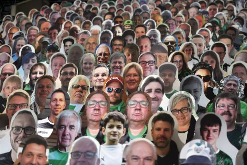 13,000 cardboard cut-outs make up Bundesliga crowd in Monchengladbach