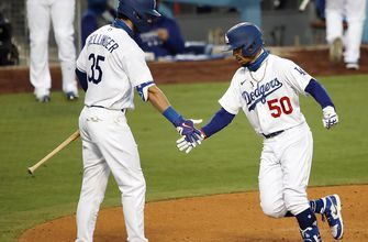 Mookie Betts gets first home run at Dodger Stadium as a Dodger, LA rolls past Giants 7-2