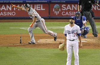 Giants rally with 4 runs in 9th to down Dodgers, 5-2