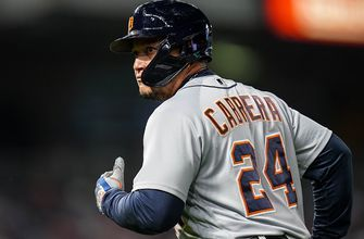 Miguel Cabrera launches two-run homer to even Tigers' score with Royals, 4-4