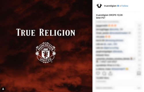 Manchester United does denim with True Religion
