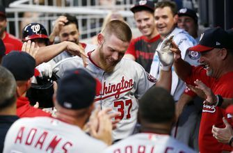 Strasburg hits and pitches Nationals to 13-4 win over Braves