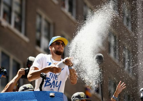 Stephen Curry and the Warriors sprayed $500K worth of sparkling wine at championship parade