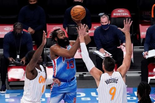 Harden debuts with triple-double, Durant scores 42, Nets win