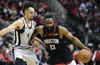 Harden has 61 to tie career best, lead Rockets over Spurs