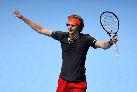 Zverev beats Isner to reach last four at ATP Finals