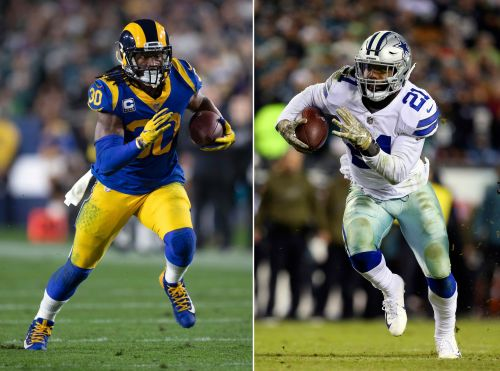 NFL playoffs: Feeding Cowboys' Ezekiel Elliott, with Todd Gurley in the house, is hot subplot