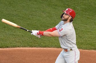 Bryce Harper homers twice as Phillies thrash Nationals, 12-3