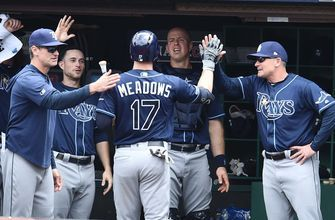 Austin Meadows perfect at the plate, Rays top Indians in series finale 6-3