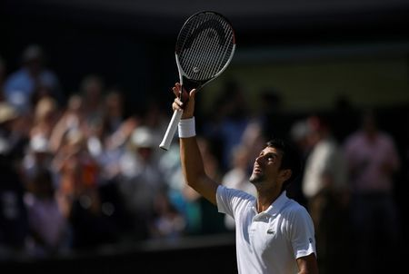 Different Djokovic books his place in the final four