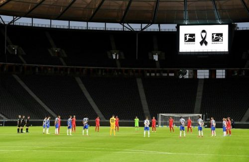 Hertha hammer Union at empty Olympic Stadium