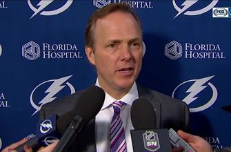 Jon Cooper talks tonight's effort as Lightning see 8-game win streak end