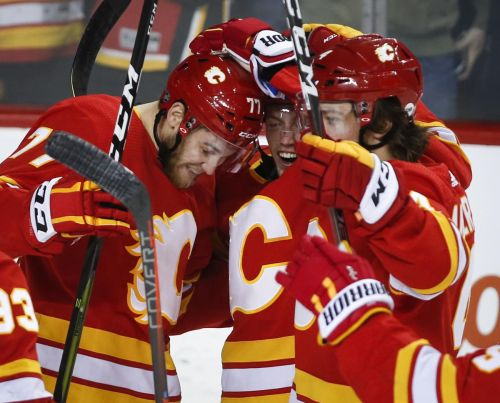 Gaudreau snaps goal drought to help Flames double up Islanders