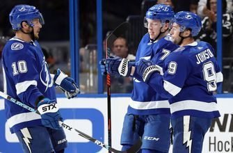 Tyler Johnson's hat trick surges Bolts over Hurricanes 4-2