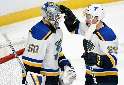 Blues top Wild 3-0 for 3rd straight shutout, 10th win in row