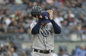 Rays' Cy Young winner Snell chased by Yankees after 1 out