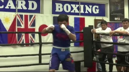 Manny Pacquiao preps for Las Vegas bout
