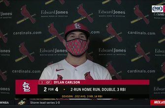 Carlson says it was 'incredible' witnessing Molina's 2,000th career hit