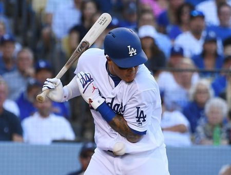 MLB notebook: Dodgers' Machado reportedly fined for Aguilar incident