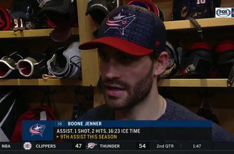 Boone Jenner thinks Blue Jackets played well, but missed some key chances in 3rd