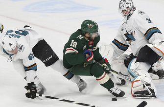 Wild can't solve Jones in 4-0 loss to Sharks